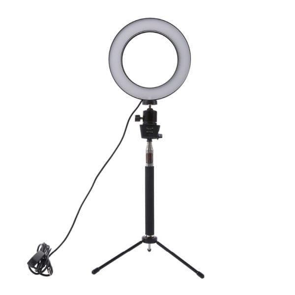 Лампа кольцевая, диаметр 20 см, на штативе 127см