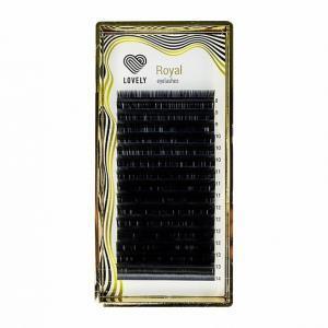 Ресницы черные Lovely серия «Royal Lashes» 16 линий — MIX
