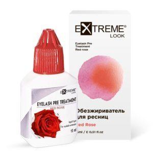 Обезжириватель для ресниц eXtreme look «Red Rose»
