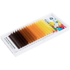Палитра цветных ресниц eXtreme look теплые цвета
