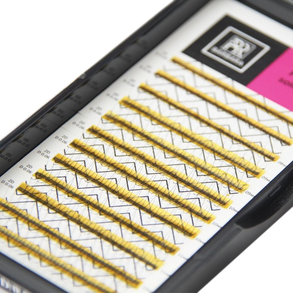 Ресницы Perfect solution готовые пучки 3D 12 линий Barbara