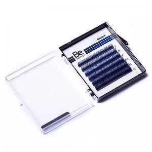 Цветные ресницы Be Perfect Ombre Blue MIX 6 линий