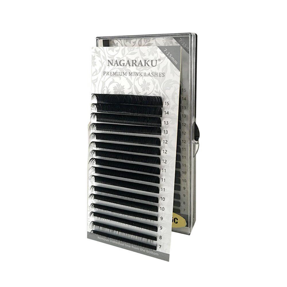 Черные ресницы Nagaraku Premium МИКС