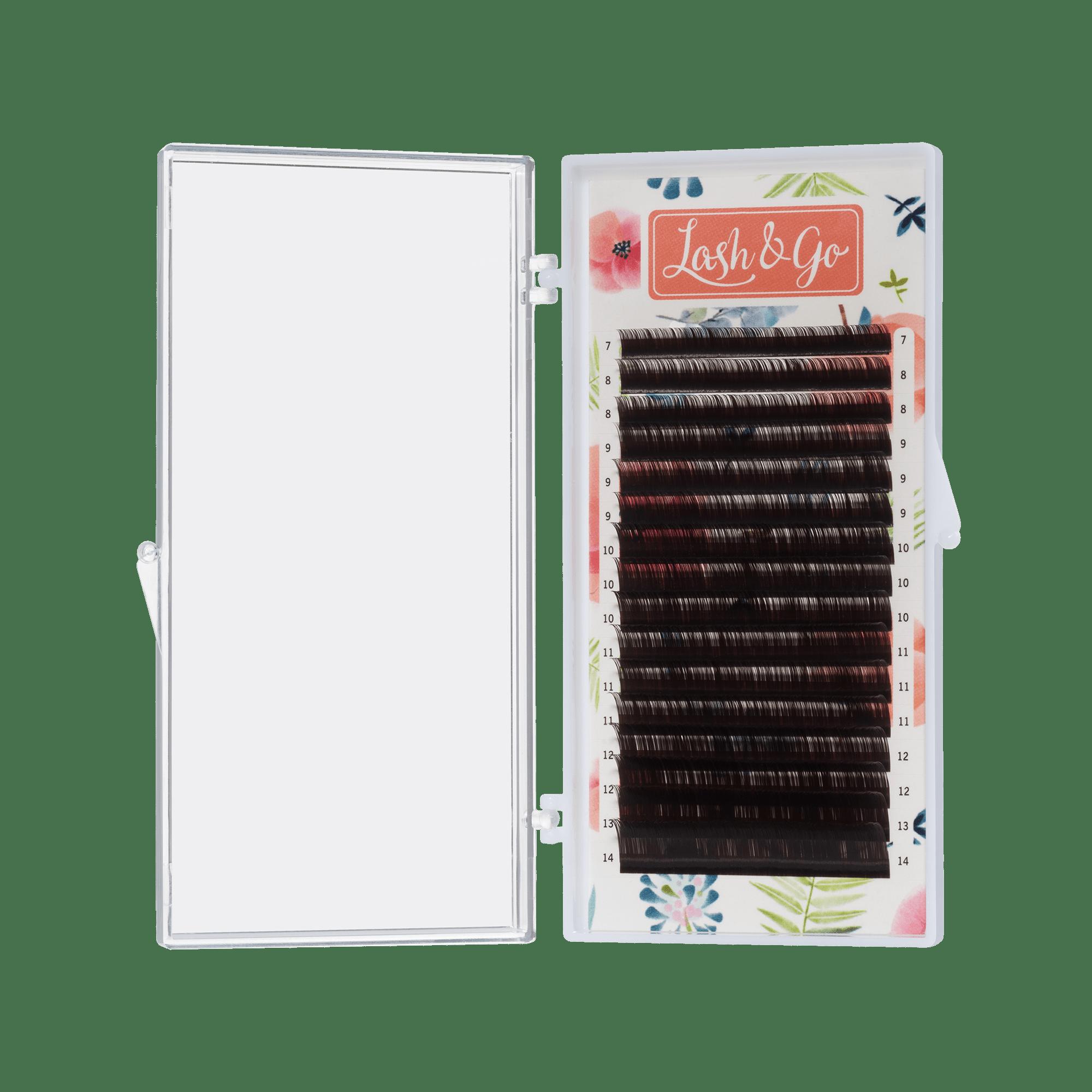 Коричневые ресницы Lash&Go микс «Эспрессо» (16 линий)