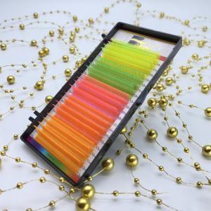 Ресницы Ollure NEON Mix (желт,зел,роз,кр,оранж)