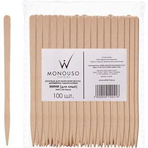 Шпатели деревянные «мини» для лица Italwax №100шт