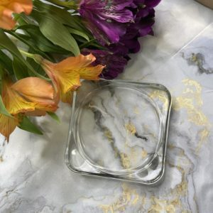 Палитра для смешивания красок, стекло, прозрачный